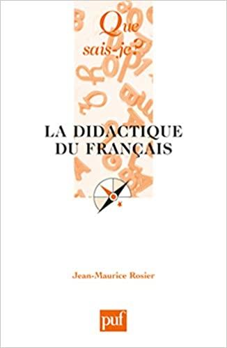 La didactique du français (Que sais-je?) (French Edition) - Epub + Converted pdf