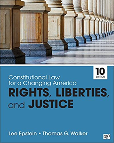 Constitutional Law for a Changing America: Rights, Liberties, and Justice (10th Edition) - Epub + Converted pdf