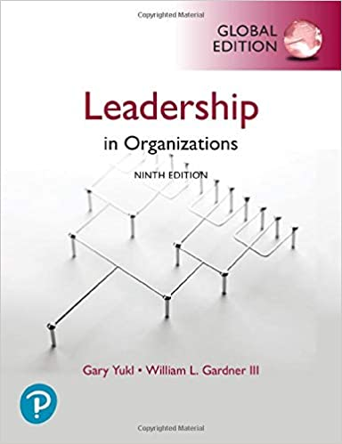 Leadership In Organizations Global Ed[2020] - Original PDF