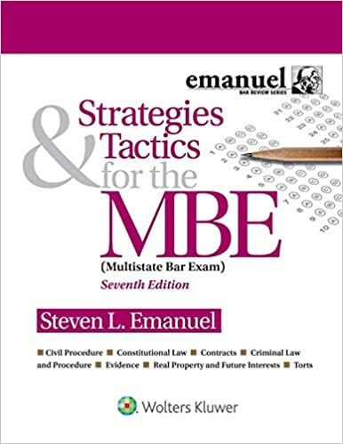 Strategies & Tactics for the MBE (Bar Review) (7th Edition) [2019] - Epub + Converted pdf