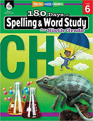 180 Days of Spelling and Word Study Grade 6 - Daily Spelling Workbook for Classroom and Home, Cool and Fun Practice, Elementary School Level - Original PDF