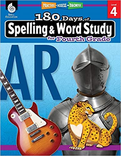 180 Days of Spelling and Word Study Grade 4 - Daily Spelling Workbook for Classroom and Home, Cool and Fun Practice, Elementary School Level - Original PDF