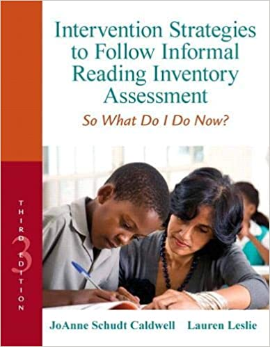 Intervention Strategies to Follow Informal Reading Inventory Assessment: So What Do I Do Now? (Myeducationlab) 3rd Edition) - Original PDF