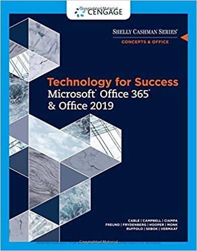 Technology for Success and Shelly Cashman Series Microsoft Office 365 & Office 2019 - Original PDF