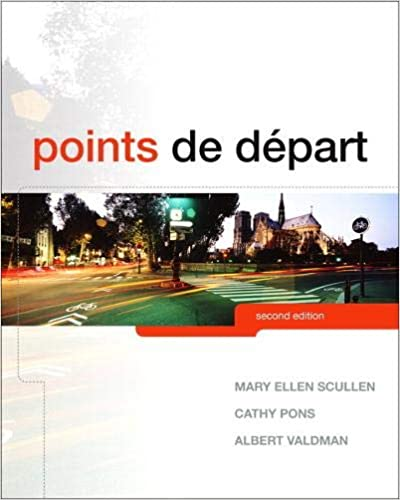 Points de départ (2nd Edition) by  Mary Ellen Scullen - Original PDF