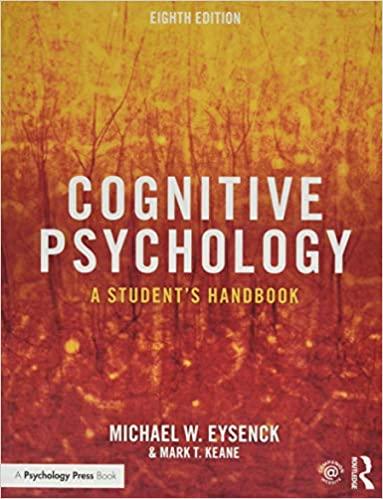 Cognitive Psychology: A Student's Handbook (8th Edition) - Original PDF