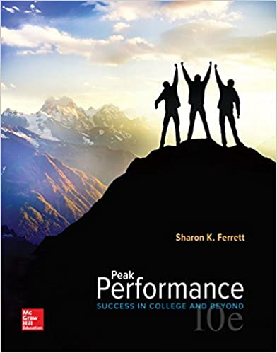 Peak Performance: Success in College and Beyond (10th Edition) - Original PDF