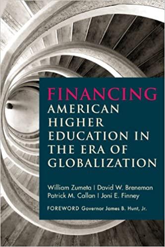 Financing American Higher Education in the Era of Globalization - Epub + Converted pdf