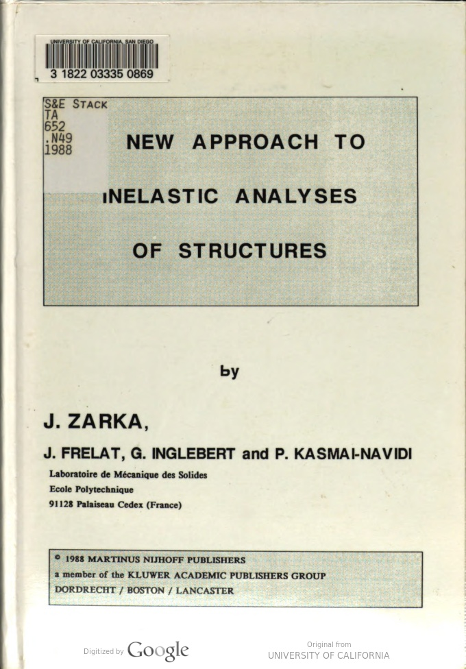 A New Approach to Inelastic Analysis of Structures - Scanned pdf