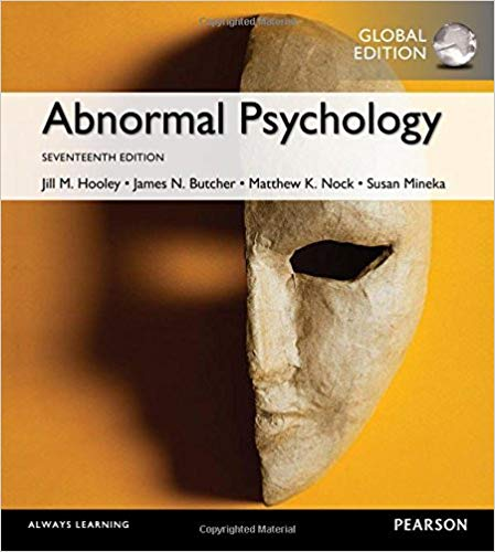 Abnormal Psychology, Global Edition (17th edition) - Original PDF