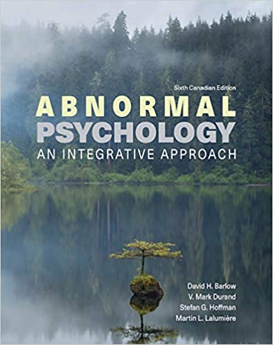 Abnormal Psychology: An Integrative Approach (6th Edition) [2021] - Orginal pdf