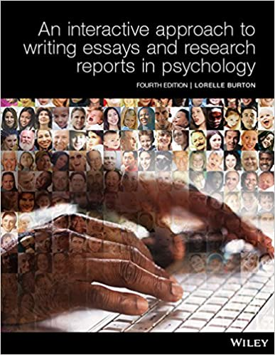 An Interactive Approach to Writing Essays and Research Reports in Psychology (4th edition) - Original PDF