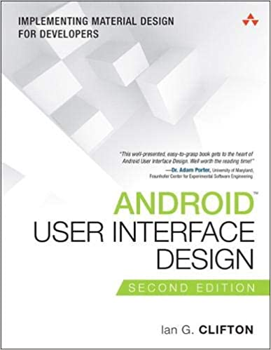Android User Interface Design: Implementing Material Design for Developers (2nd Edition) - Orginal Pdf
