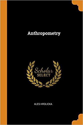 Anthropometry BY Hrdlicka - PDF