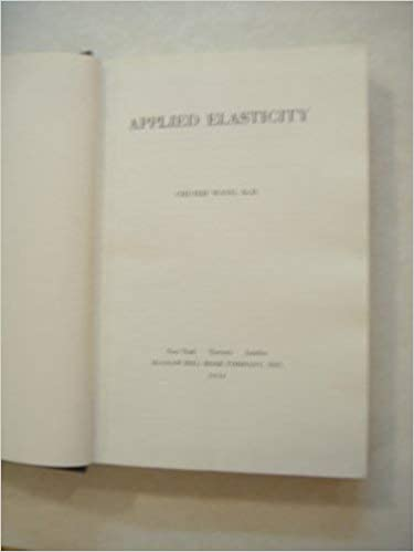 Applied Elasticity BY Chi-teh Wang - Scanned pdf