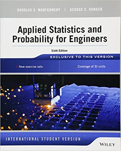 Applied Statistics and Probability for Engineers (6th Edition International Student Version) - Original PDF