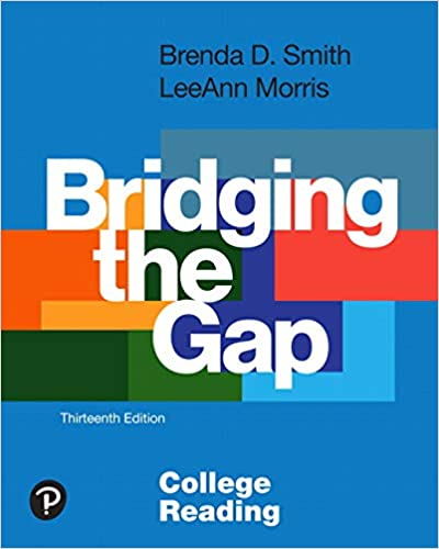 Bridging the Gap:  College Reading (13th Edition)[2019] - Original PDF