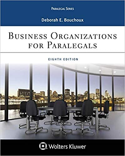 Business Organizations for Paralegal (8th Edition) [2019] - Epub + Converted pdf