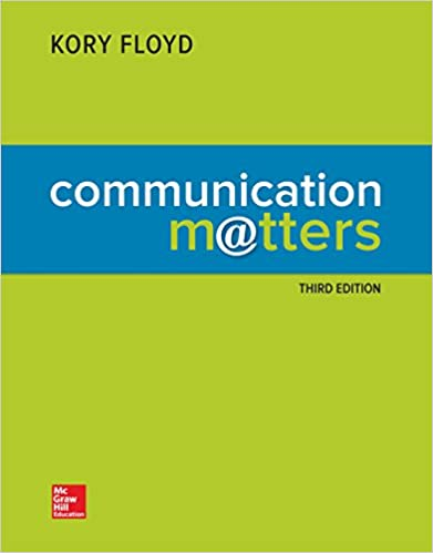 Communication Matters (3rd Edition) - Orginal Pdf