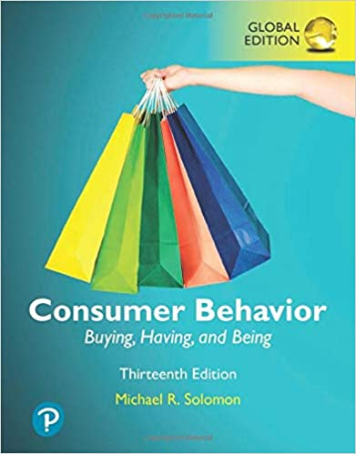 Consumer Behavior:  Buying, Having, and Being, Global Edition (13th Edition) [2019] - Original PDF