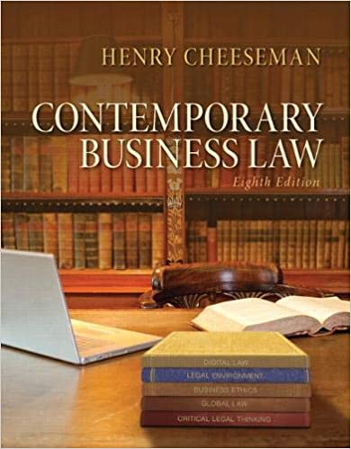 Contemporary Business Law (8th Edition) BY Cheeseman - Orginal Pdf
