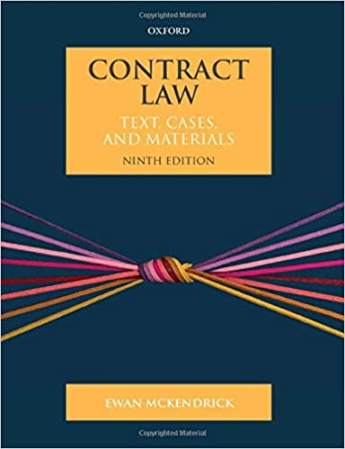 Contract Law: Text, Cases, and Materials (9th Edition) - Original PDF