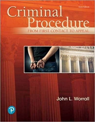 Criminal Procedure: From First Contact to Appeal (6th Edition) - Image pdf with ocr