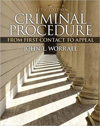 Criminal Procedure: From First Contact to Appeal (5th Edition) - Orginal Pdf