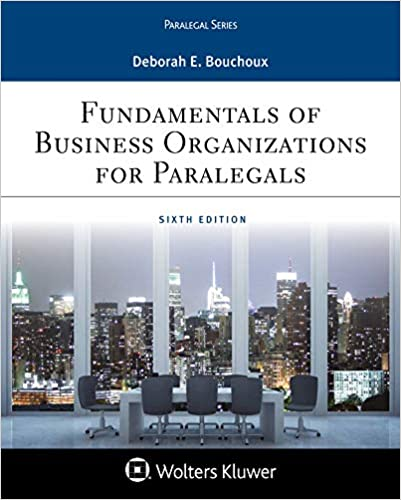 Fundamentals of Business Organizations for Paralegals (6th Edition) - Epub + Converted Pdf