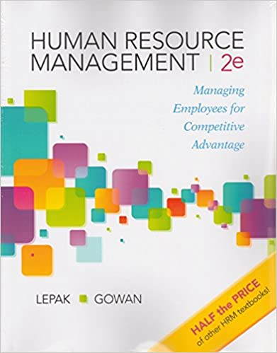 Human Resource Management: Managing Employees for Competitive Advantage (2nd Edition) - Image pdf with ocr