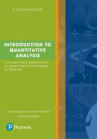 Introduction to Quantitative Analysis (custom edition) 9780655700647 - Original PDF