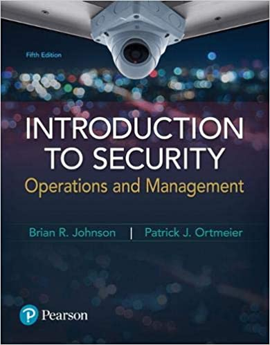 Introduction to Security: Operations and Management (5th Edition) [2019] - Original PDF