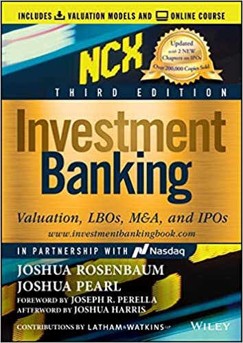 Investment Banking: Valuation, LBOs, M&A, and IPOs (3rd Edition) - Epub + Converted pdf