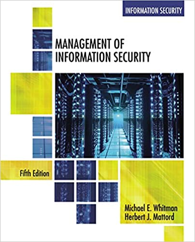 Management of Information Security (5th Edition) - Orginal Pdf