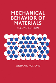 Mechanical Behavior of Materials - Hosford - 2e  Soultion Manual