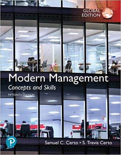 Modern Management:  Concepts and Skills, Global Edition (15th Edition) - Original PDF