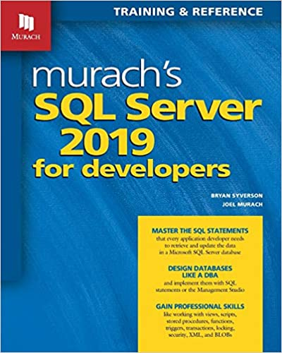 Murach's SQL Server 2019 for Developers [2020] - Image pdf with ocr