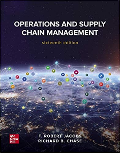 Operations and Supply Chain Management (16th Edition) - Epub + Converted pdf