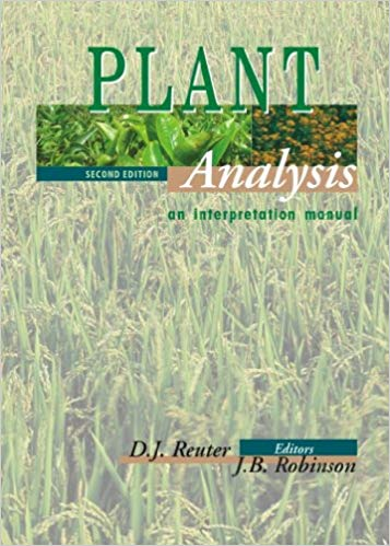 PLANT ANALYSIS - AN INTERPRETATION MANUAL