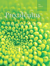 Precalculus: A Right Triangle Approach (5th Edition) - Original PDF