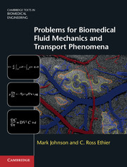 Solution Manual Problems for Biomedical Fluid Mechanics and Transport Phenomena - Pdf