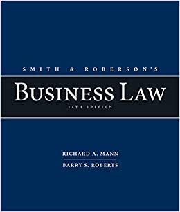 Smith and Roberson's Business Law (16th Edition) - Original PDF
