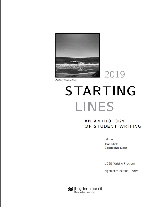 Starting Lines: An Anthology Of Student Writing (18th Edition) - Orginal Pdf