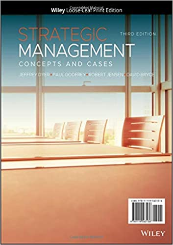 Strategic Management: Concepts and Cases (3rd Edition) [2020] - Epub + Converted pdf