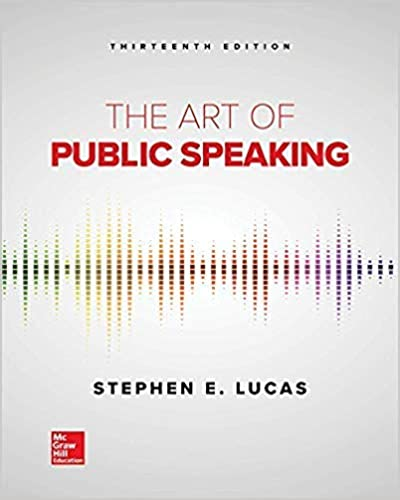 The Art of Public Speaking (13th Edition) [2019] - Original PDF