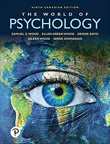 The World of Psychology (Ninth Canadian Edition)(2020) - Image pdf with ocr