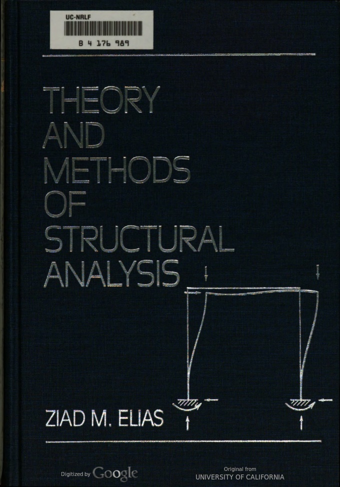 Theory and Methods of Structural Analysis BY Elias - Scanned pdf