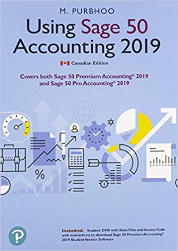 Using Sage 50 Accounting 2019 (Canada edition)