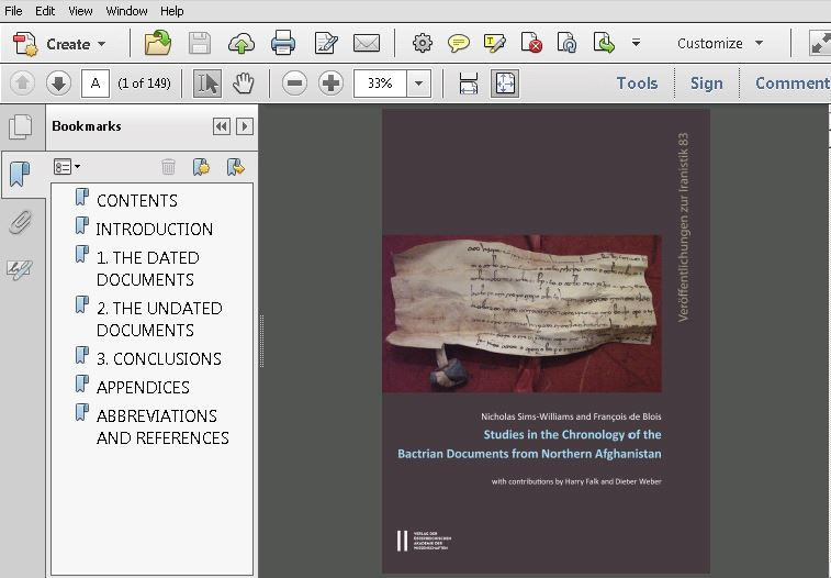 Studies in the Chronology of the Bactrian Documents from Northern Afghanistan