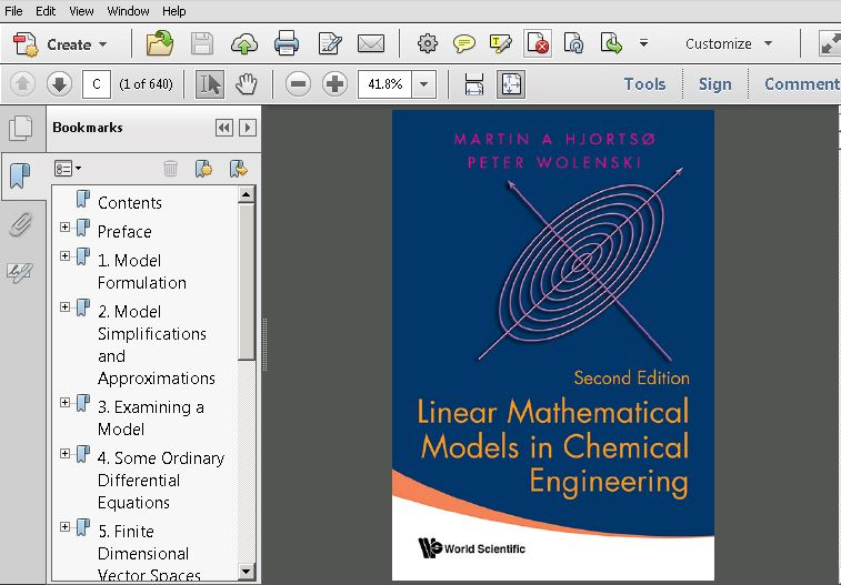 Linear Mathematical Models in Chemical Engineering 2nd Edition